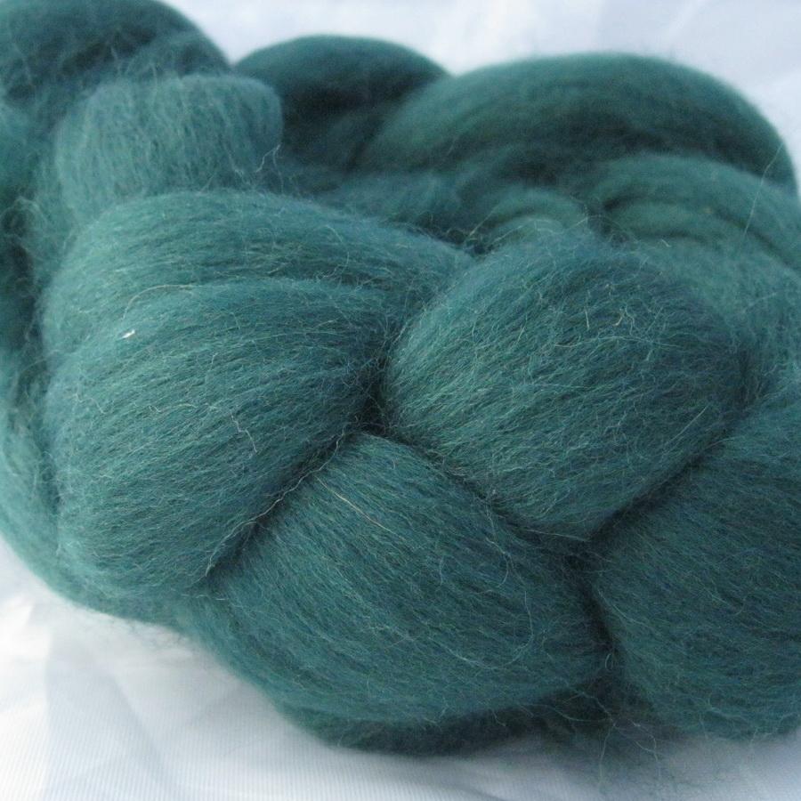 Слонимская шерсть для валяния т.зелёный