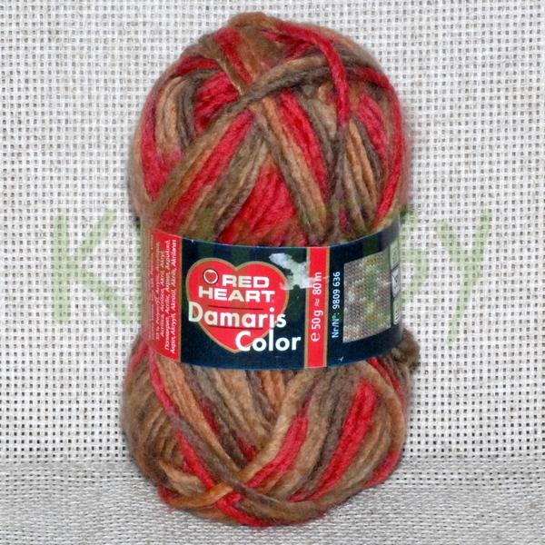 Пряжа Damaris color красно-коричневый