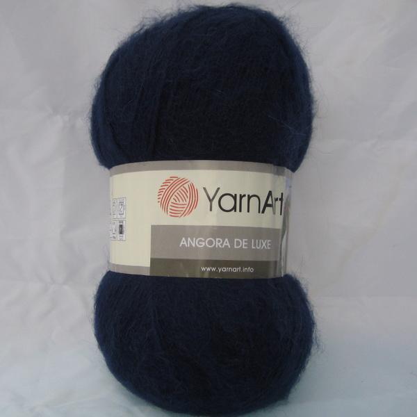 Пряжа Angora de luxe темно-синий