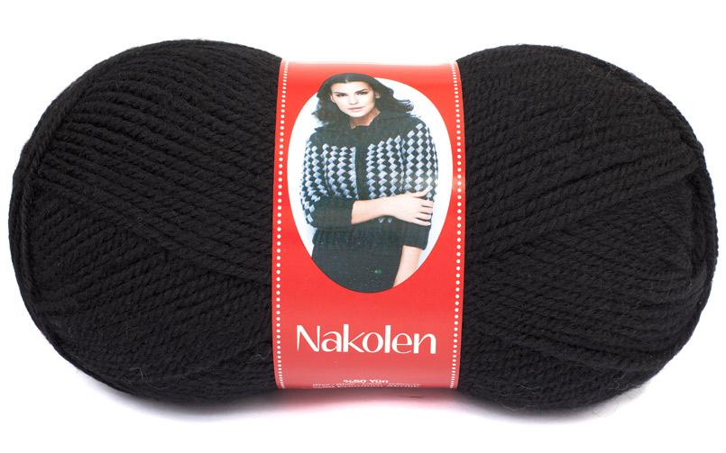 Пряжа Nakolen чёрный
