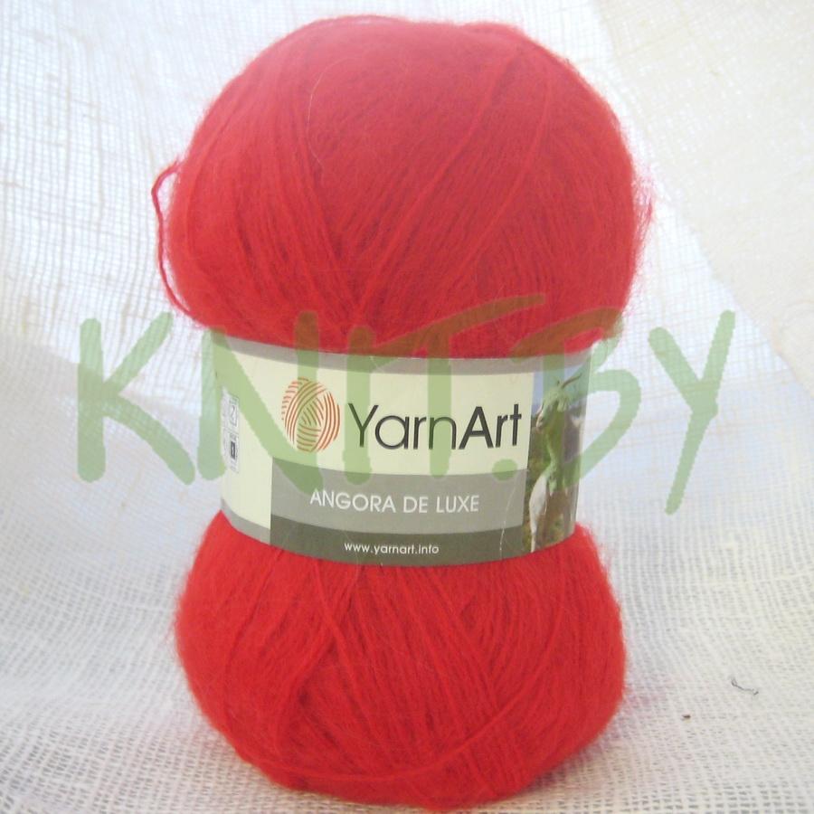 Пряжа Angora de luxe красный
