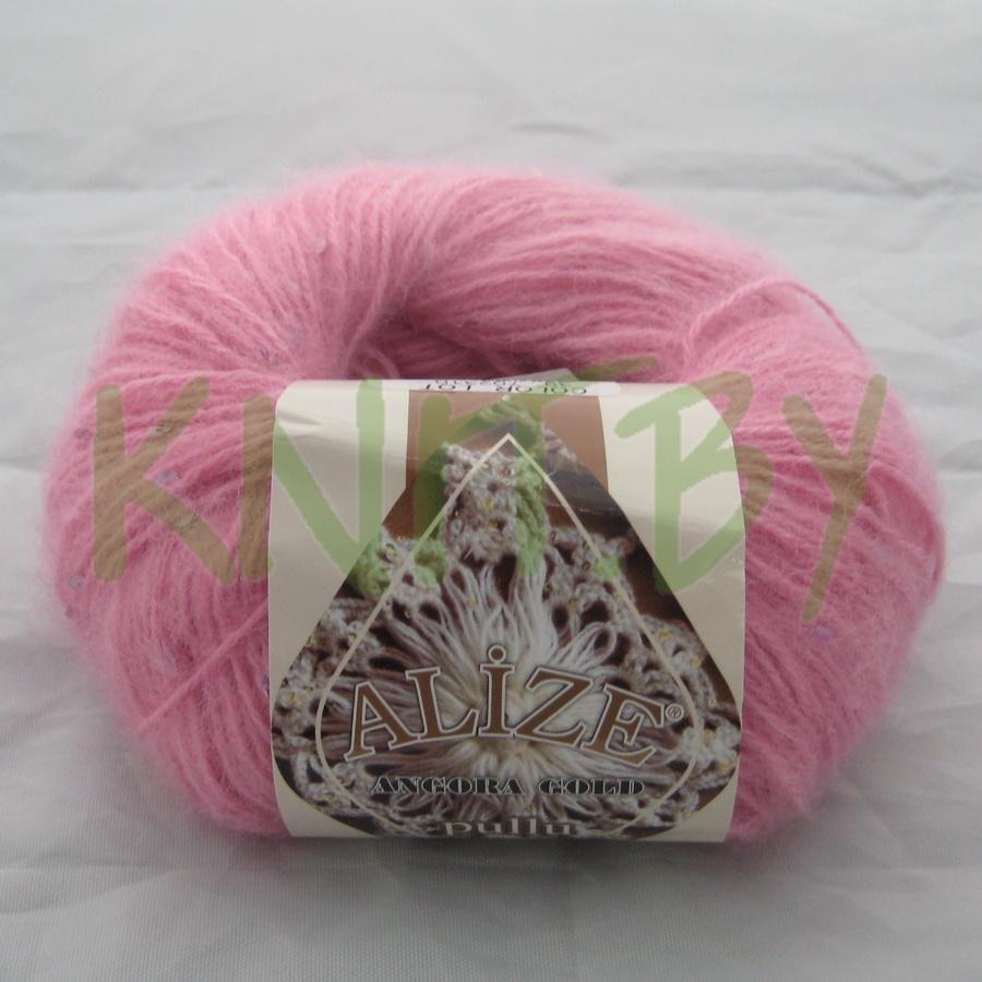 Пряжа Angora Gold Pullu розовый леденец