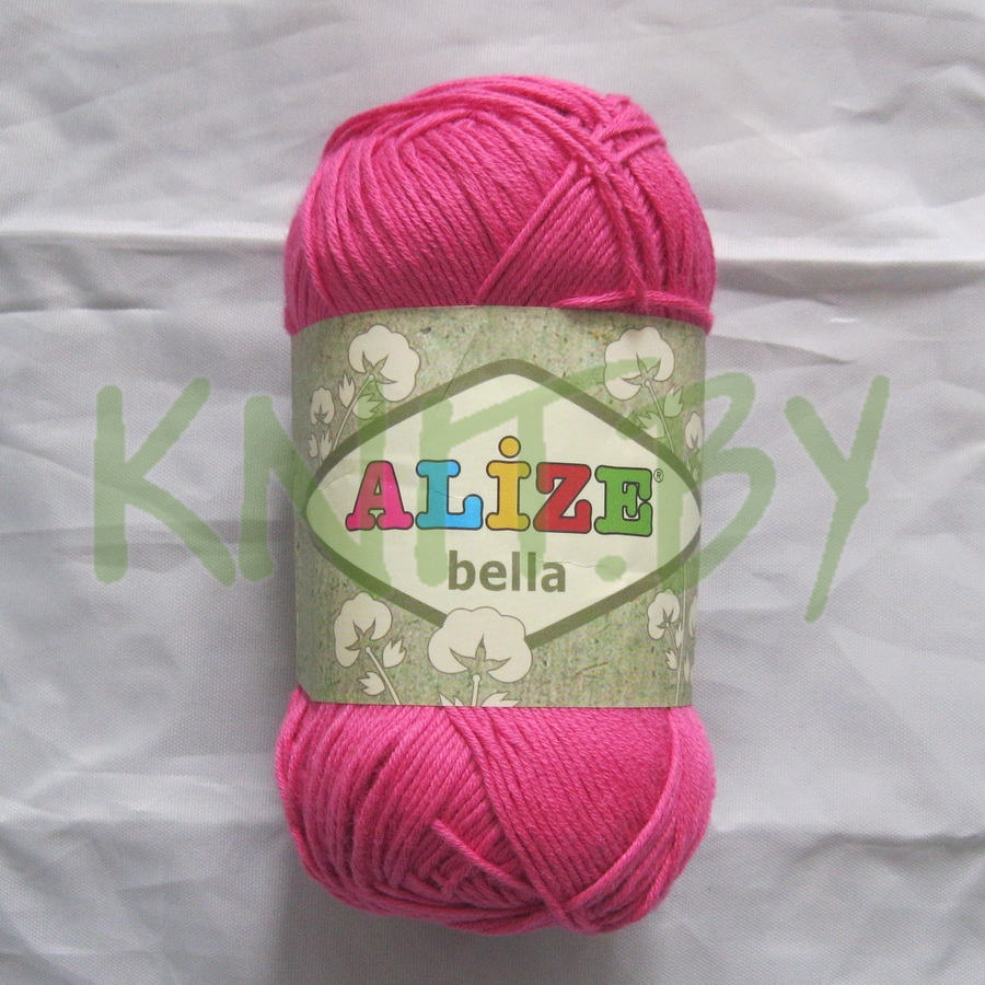 Пряжа Alize Bella ярко-розовый