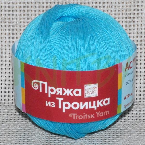Пряжа Астра голубая бирюза