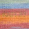 Пряжа Baby Wool Batik Alize бирюзово-оранжевые оттенки