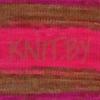 Пряжа Lanagold Batik cине-малиново-коричневые оттенки