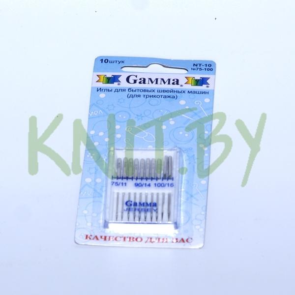 Иглы для бытовой швейной машины № 75-100 (10шт)