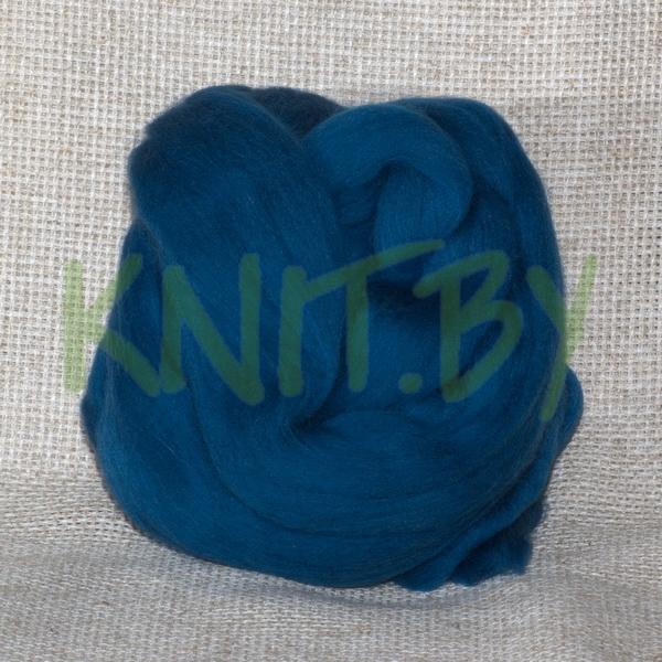 Слонимская шерсть для валяния голубая ель