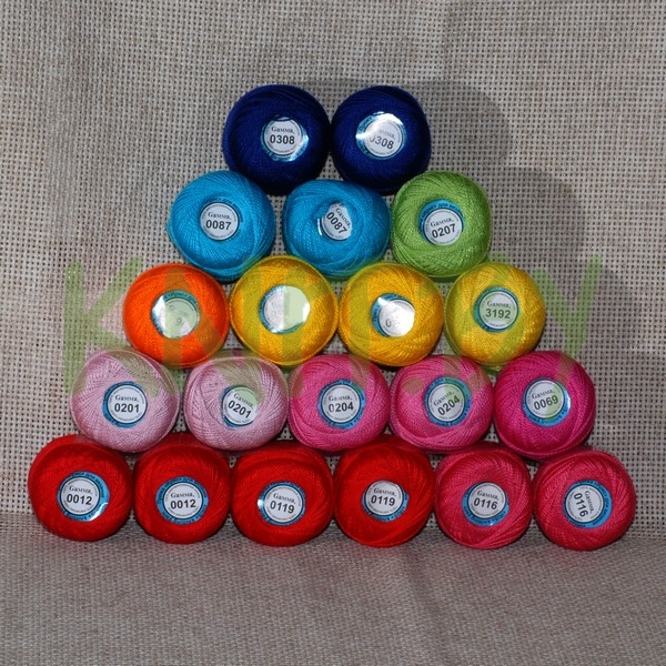 Пряжа Ириска Гамма (набор разного цвета) набор 20 шт