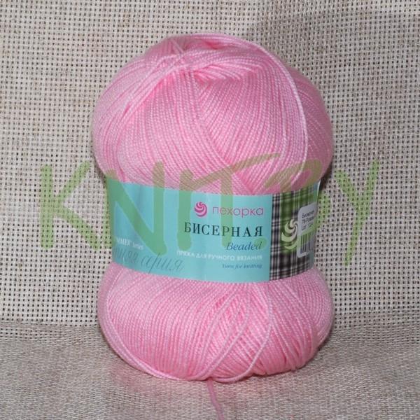 Пряжа Бисерная розовый бутон