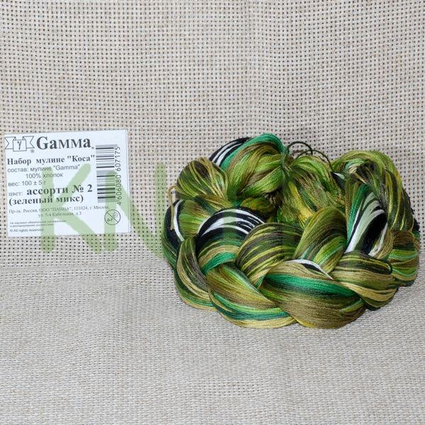 """Набор мулине """"Gamma"""" """"Коса"""" зелёный микс"""