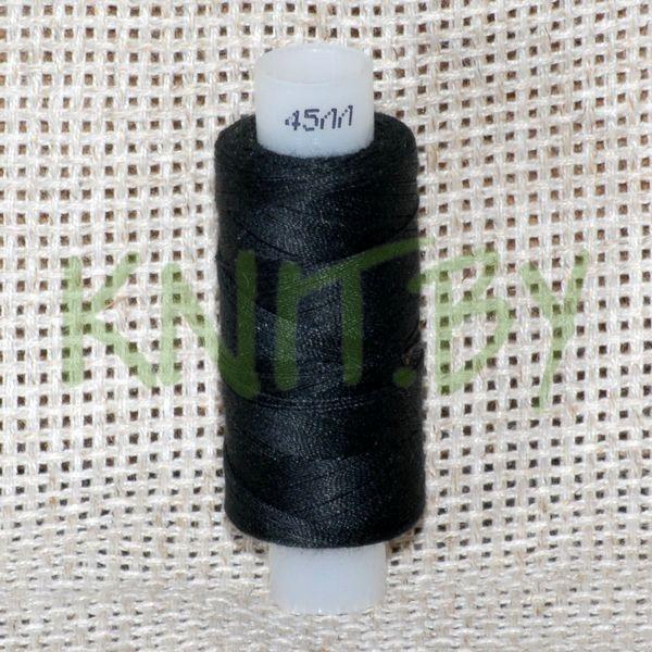 Нитки армированные  чёрный 45 ЛЛ 200 м