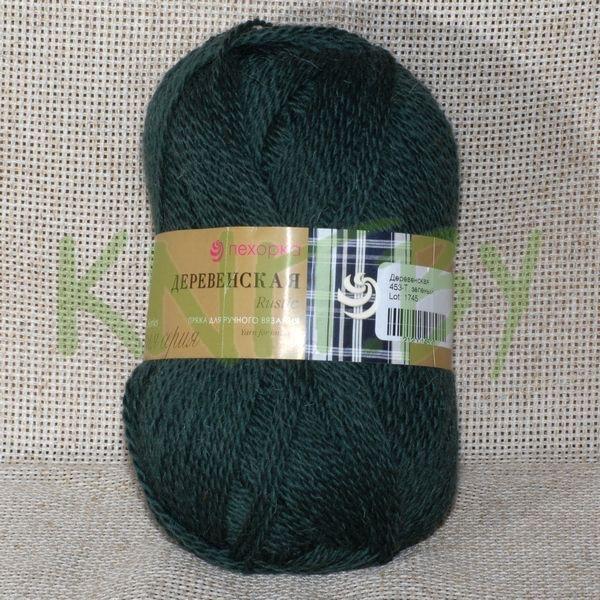 Пряжа Деревенская т.зелёный