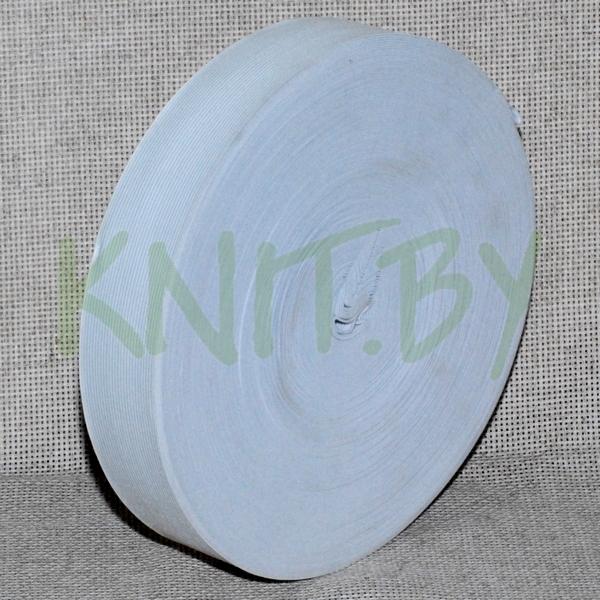 Лента эластичная 45 мм 0045 белая 50 м
