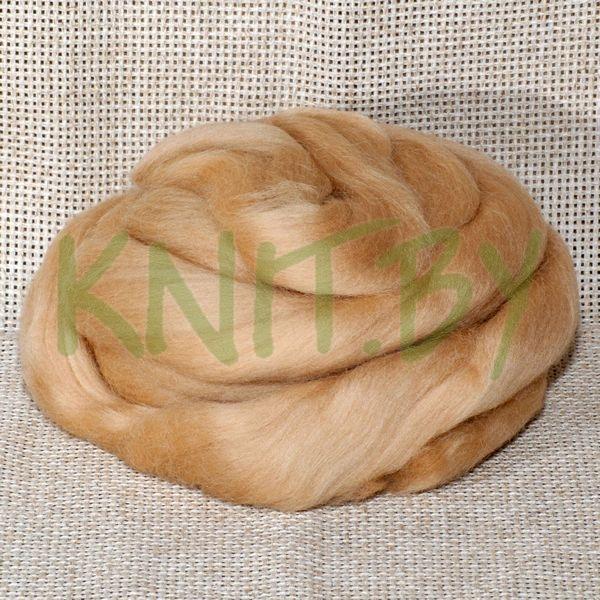 Слонимская шерсть для валяния соломеннный