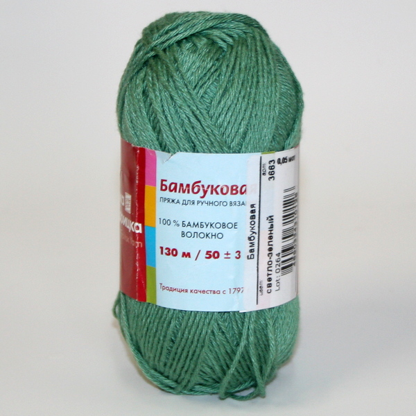 Пряжа Бамбуковая светло-зеленый