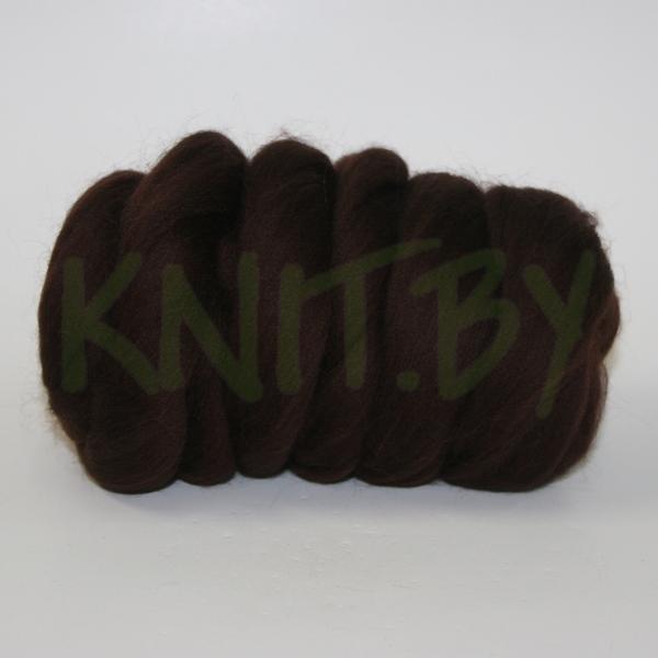 Слонимская шерсть для валяния шоколад