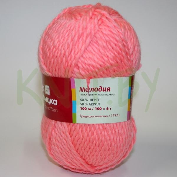Пряжа Мелодия розовый