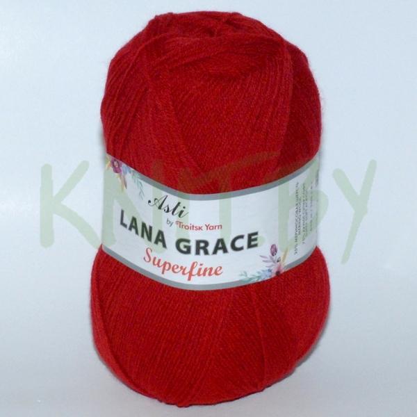 Пряжа Lana Grace Superfine красный