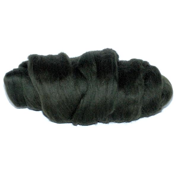 Слонимская шерсть для валяния т.оливковый