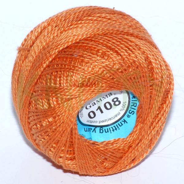 Пряжа Ириска Гамма оранжевый
