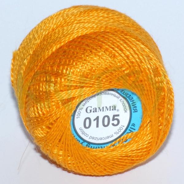Пряжа Ириска Гамма желто-оранжевый