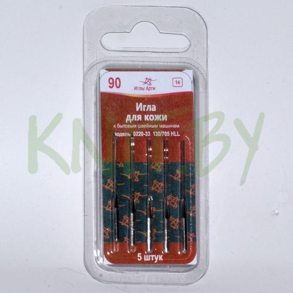 Иглы для бытовой швейной машины Арти для кожи №90 (5 шт)