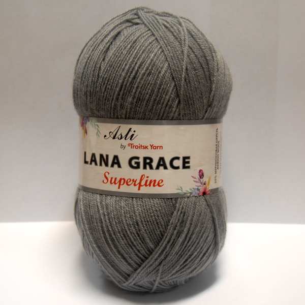 Пряжа Lana Grace Superfine серый