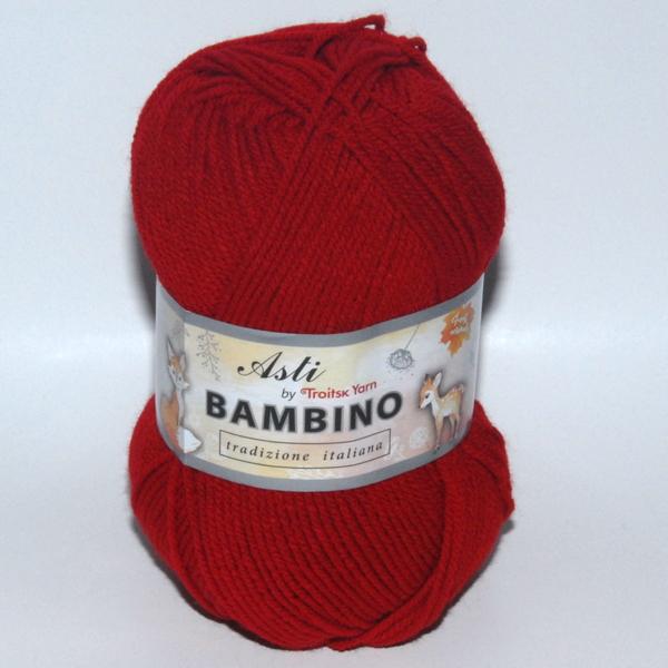 Пряжа BAMBINO красный