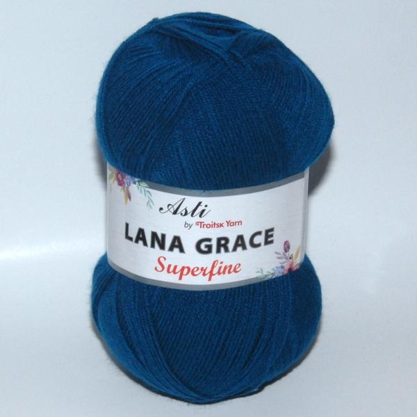 Пряжа Lana Grace Superfine морская волна