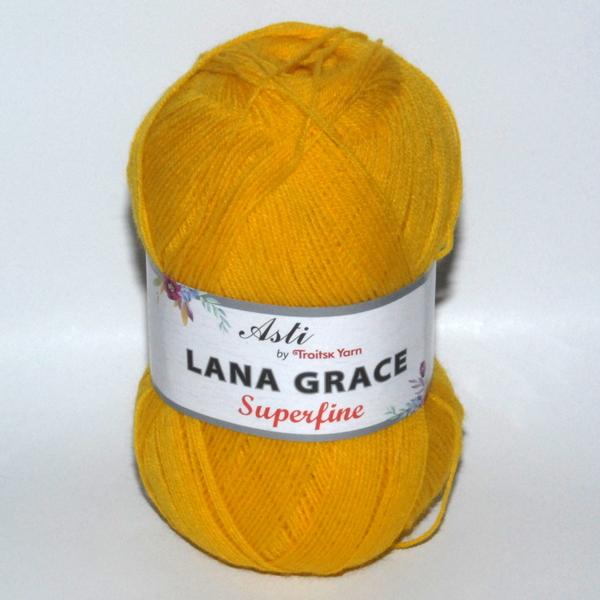 Пряжа Lana Grace Superfine холодный желтый