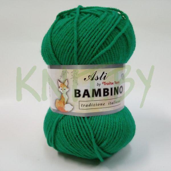 Пряжа BAMBINO яркая зелень