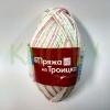 Пряжа Ромашка (секционный) салатовый-розовый