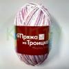Пряжа Ромашка (принт) фиолетовый-розовый-белый