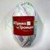 Пряжа Ромашка (принт) фиолетовый-зеленый