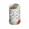 Пряжа Alize Bella batik коричнево-рыжий-св.бирюзовый оттенок