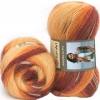Пряжа Angora Active бордово-оранжевые оттенки