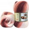 Пряжа Angora Active бордово-персиковые оттенки