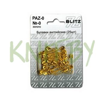 Булавка английская золото средняя L 27 мм