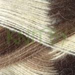 Пряжа Angora Ram Melange молочный с коричневыми оттенками