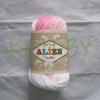 Пряжа Alize Bella batik бело-розовый оттенок