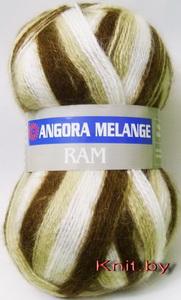 Пряжа Angora Ram Melange белый с бежевыми оттенками