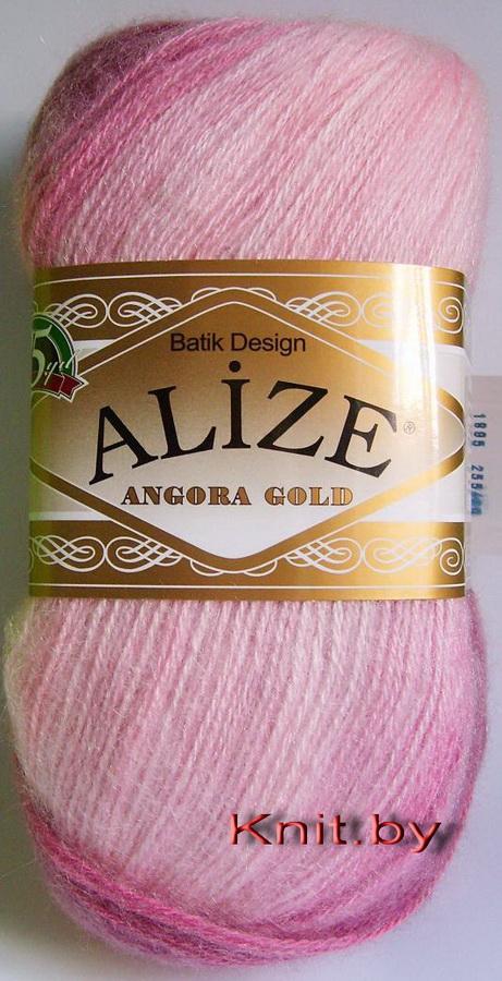 Пряжа Angora Gold BATIK DESIGN розово-фиолетовый