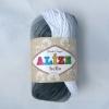 Пряжа Alize Bella batik светло-черно-серый оттенок