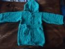 Работа Людмилы Кушнер - вязаный халат для мальчика.